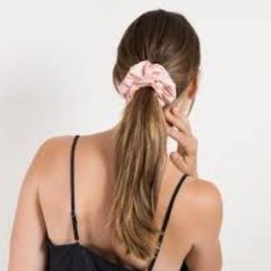 'Silky' Blush Pink Hair Scrunchie Set